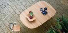 Table ovale / de jardin / contemporaine / en teck LES ARCS Unopiu