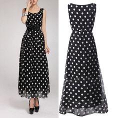 Sexy Women Summer Sleeveless Party Chiffon Dress Ball Gown Long Maxi Dresses  Hot SHM