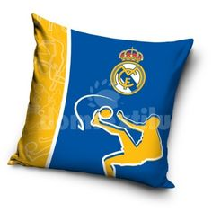 Obliečka na vankúš s motívom Realu Madrid - domtextilu. Real Madrid Official, Chelsea, Football Jerseys, Decoration, Cushions, Throw Pillows, Kids, Souvenir, Arredamento