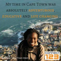 What adventures will your trip to Cape Town bring? Volunteer Programs, Volunteers, Cape Town, No Time For Me, Tuesday, Connection, Adventure, Movie Posters, Life