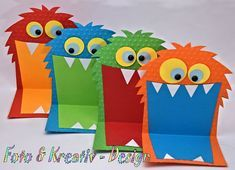 Invitation Cards - Monster - Invitation - Set / 4 pieces - a designer product by F . Invitation Cards – Monster – Invitation – Set / 4 pieces – a unique product by Foto-und-Kre Monster Party, Monster Birthday Parties, Diy Birthday Invitations, Monster Birthday Invitations, Invitations Kids, Art For Kids, Crafts For Kids, 1st Birthdays, Happy Birthday Cards
