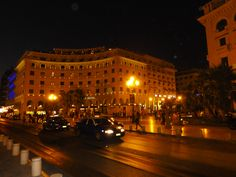 GREECE CHANNEL | Thessaloniki , Aristotelous Square by night.