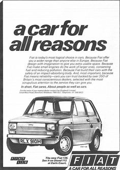 Fiat 1973 Fiat 500, Veteran Car, Fiat Cars, Small Engine, Commercial Vehicle, Ethiopia, Vintage Ads, Old Cars, Typo