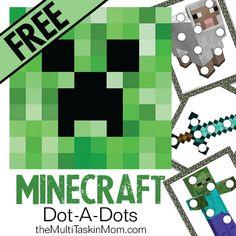 FREE Minecraft Dot-A-Dots - The Multi Taskin' Mom
