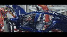 Watch How Robots Build The Tesla Model 3
