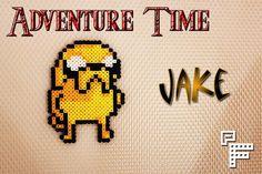 Adventure Time Inspired Jake Perler Bead Art by itisarainbow