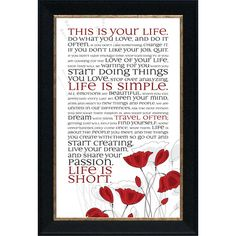 Found it at Wayfair - This Is Your Life by Tonya Framed Graphic Art