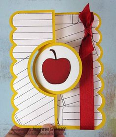 A+ Teacher Sizzix Flip-its by Jeanne S - Cards and Paper Crafts at Splitcoaststampers
