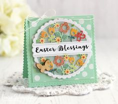 Easter Blessings Card by Laurie Schmidlin for Papertrey Ink (March 2017)