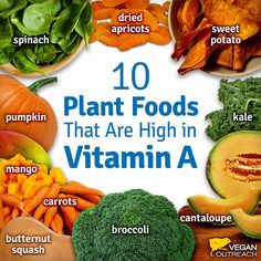 10 plant foods that are high in Vitamin A #plantbased #healthy