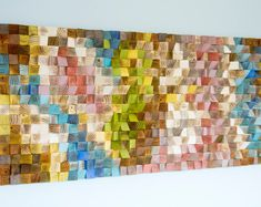 Woodburning Reclaimed Wood wall Art Wood mosaic Geometric