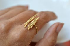 Purely gold, white and green par Anne-Kim Bourcart sur Etsy