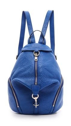 Rebecca Minkoff Julian Backpack in Bright Blue/Black
