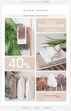 Zara Home email design 2014 Edm Template, Email Template Design, Email Newsletter Design, Email Newsletters, Email Templates, Newsletter Ideas, Zara Home, Web Design, Layout Design