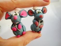 ratatouille rats  fimo sculpey polymer clay