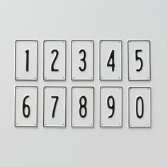 Black and White Number Signs $10.00, I want these to use as the street numbers on our house! FUN! VINTAGE! DIFFERENT! Love it!