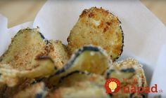 How to make the perfect dipping appetizer: zucchini chips Healthy Chips, Quick Healthy Snacks, Healthy Eating Recipes, Cooking Recipes, Healthy Zucchini, Zucchini Chips, Vegetable Dishes, Vegetable Recipes, Food Porn