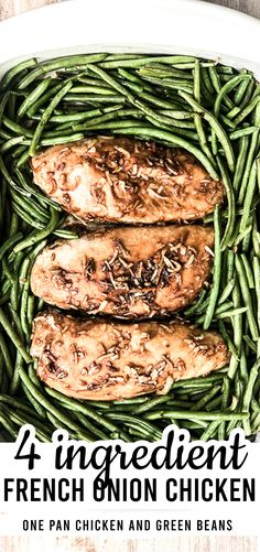 This is a super simple yet delicious one pan Chicken and green beans recipe! It takes less than 5 minutes to prep and then throw right in the oven! Healthy, minimal ingredients, and fantastic flavors for a killer weeknight dinner Green Bean Recipes, Veggie Recipes, Chicken Recipes, Cod Recipes, Carrot Recipes, Lentil Recipes, Cauliflower Recipes, Party Recipes, Pizza Recipes