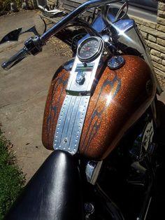 Motorcycle Pearl Vinyl Flame Decal Kit Harley Davidson Honda - Vinyl for motorcycles