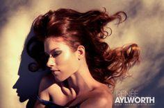 Renée Aylworth Photography, Model: Sanna Haynes, MUA: Sarah Elizabeth White Davis #beauty #makeup #shadows #hair #auburn #model