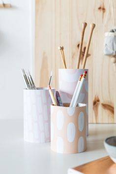 Back to School Printable Pen Pot Covers