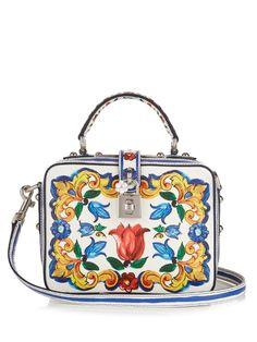 9479198f15db7 Dolce Soft Majolica-print leather box bag