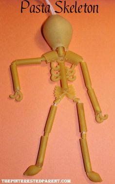 Pasta skeleton craft and other Halloween pasta crafts