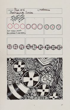 Geer #Four-tangle pattern by molossus, who says Life Imitates Doodles, via Flickr