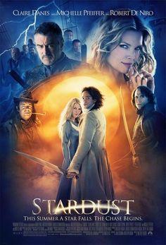 Stardust (2007 movie adaptation) - starring: Claire Danes, Charlie Cox, Robert De Niro, Michelle Pfeiffer - narrated by Ian McKellen