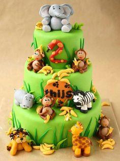 jungle cake baby shower