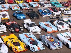 Wow. Behold the best cross section of porsches ever