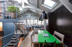 Once a woodworker's shop, this Parisian loft has been beautifully converted with…