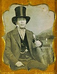 Portrait of an Asian Man in Top Hat, James P. Weston, about 1856