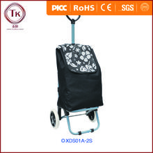 Customize 600D polyester foldable shopping trolley bag