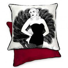 Burlesque Cushion - Gigi The Lost Lanes