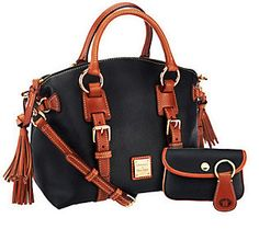 Dooney & Bourke Pebble Leather Domed Satchel w/Accessories - Merry Christmas to me