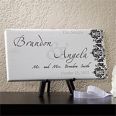 We're in love with Wedding-inspired canvas art! They make beautiful Wedding Gifts and Wedding decor! This one is so beautiful and you'd get your money's worth because you can use it to decorate the gift table, sweetheart table or station it by the place cards or guestbook AND then hang it on your wall at home after the wedding! It's only $26.95! #Wedding