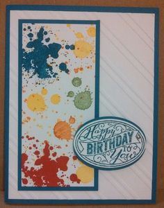 Birthday Card made in Cardmakers Dozen class at PJ Cards (Peggy Taylor & June Welch). Used Gorgeous Grunge stamp set by Stampin Up