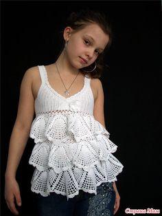 Crochet Girl Top + Diagrams