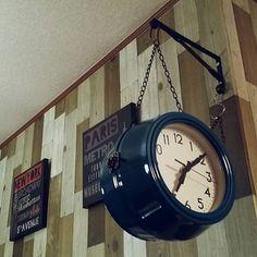 ニトリ/両面時計/DIY/ダイソー/リビングのインテリア実例 - 2015-03-17 00:48:38   RoomClip(ルームクリップ)