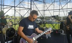 On stage at Fancourt, George. R.A.F. open for Gangs of Ballet and Prime Circle.