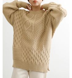 Cable Sweater, Cable Knit, Fall Sweaters, Sweaters For Women, Knitting Stitches, Knitwear, Fall Winter, Pullover, Knits