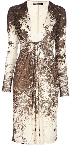 Brown animal print dress from Roberto Cavalli