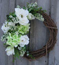 Elegant Magnolia Garden Wreath by NewEnglandWreath