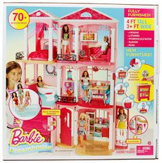 Barbie Dreamhouse with 70 Accessory Pieces Dream Playset Girls Toys Doll House. Barbie Doll Set, Doll Clothes Barbie, Mattel Barbie, Doll Toys, Girl Dolls, Barbie Stuff, Ajout D'un Garage, Malibu Sunset, Iphone Wallpaper Fall