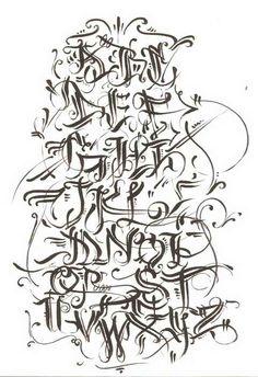 Graffiti script type