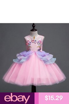 Unicorn Costume Beading Flower Girls Dress Wedding Party Tulle Skirt for  Kids. Fashion  eBayDresses Clothing e0dfc27f399f