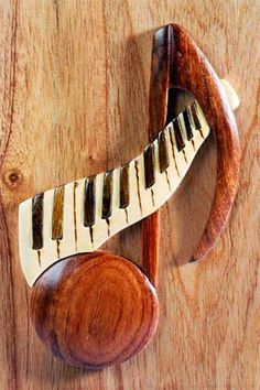 The Handcrafted Hand Carved Decorative Intarsia Inlay Wooden Ornamental Storage Box - Music Note Keyboard Piano Gifts, Music Gifts, How To Make Box, Piano Keys, Wood Patterns, Music Notes, Wooden Boxes, Decorative Accessories, Keyboard