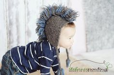Felted knit mohawk hat with ear flaps with by FuzzyFunkDesigns, $30.00