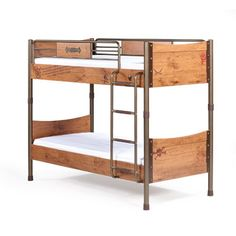 Black Pirate Bunk Bed 90X200 Cm
